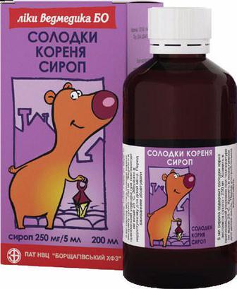 Солодки корня 250 мг/5 мл сироп 200 мл №1