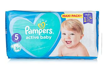 Подгузники PAMPERS Active Baby р5 11-18кг 54шт
