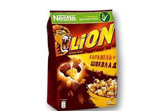 Готовий Сніданок LION з карамеллю та шоколадом Nestle 250 г