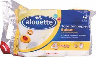 Туалетний папір Alouette 2шт
