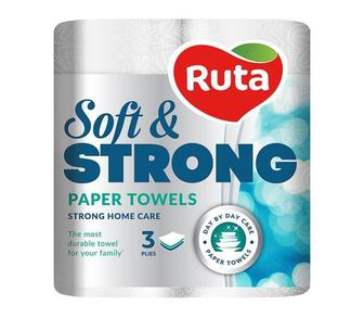 Рушники паперові Soft Strong білі Ruta 2 рулони
