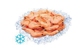 Креветка варено-морожена з головою без глазурі 100 г