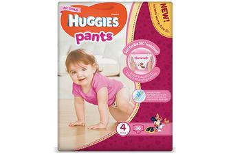 Підгузки-трусики Huggies Pants для дівчаток 4 (9-14 кг) 36 шт