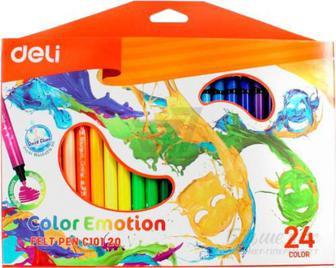 Фломастери Color Emotion 24 шт. EС10120 Deli