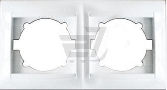 Рамка двомісна Erste Prestige горизонтальна білий 9206-82,W