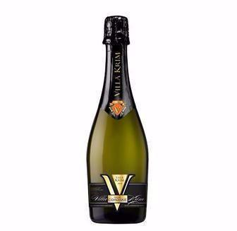 Вино ігристе біле напівсолодке, мускатне, брют асті Віла Крим 0,75л
