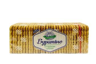 Печиво цукрове Буратіно з горiхом Конті 450 г