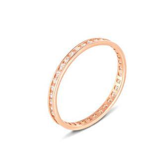 Обручальное кольцо с фианитами. Артикул 11865