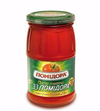 Томатна паста 33 помідора   Помідора 480 г
