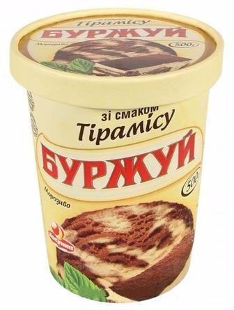 Морозиво Буржуй тірамісу з печивом Ласунка 500г