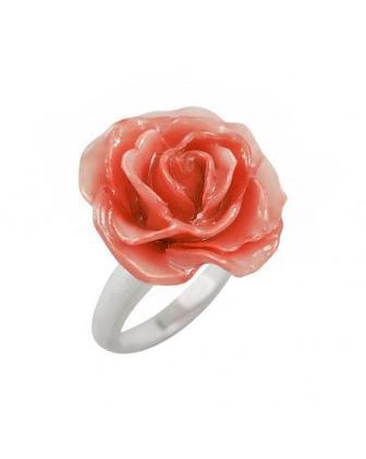 Кольцо серебрянное с цветком