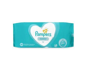 Серветки вологі Pampers Sensitive, дитячі, 52шт