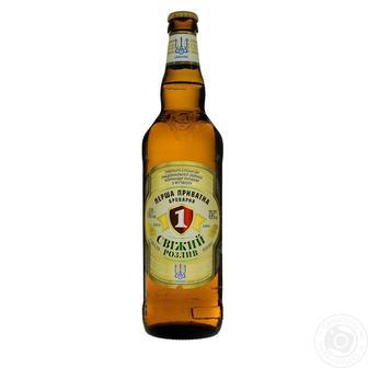 Пиво Свежий разлив светлое фильтрованное 4,5% ППБ 0,65л