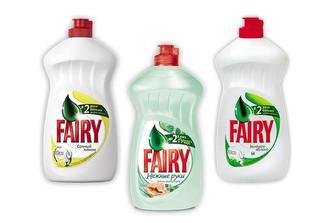 Засіб миючий для посуду Соковитий лимон/Зелене Яблуко/ Ніжні руки, Чайне дерево та м'ята, 500 мл  Fairy