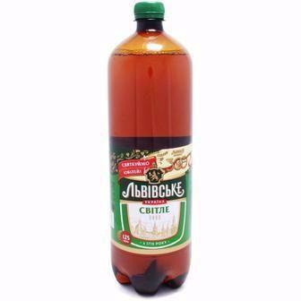 Пиво світле Львівське 1,25 л
