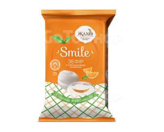 Зефір Жако Smile з апельсиновою начинкою, 300 г