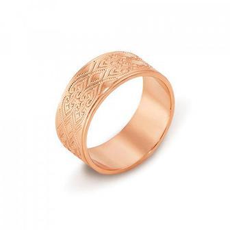 Обручальное кольцо с алмазной гранью. Артикул 10101/12