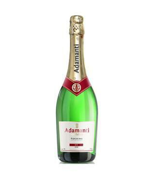 Вино игристое Брют, белое п/с Адаманти 13% 0,75 л