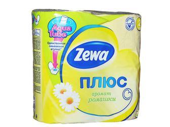 """Папір туалетний Плюс жовтий,  """"Zewa"""", 2шари 4рул"""
