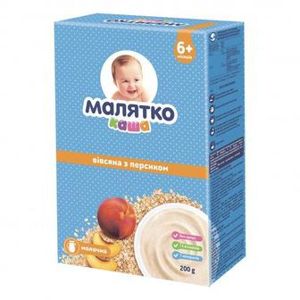 Каша молочна 5 злаків або вівсяна з персиком Малятко 200 г
