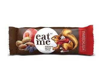 Батончик Eat Me родзинки-яблуко-горіхи в чорному шоколаді, 30г