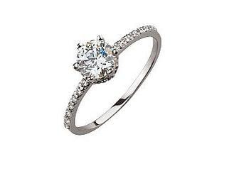 Золотое кольцо с фианитами 01-17042286