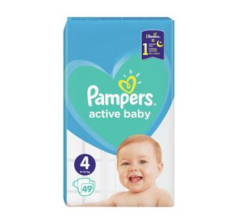 Подгузники Pampers Active Baby-Dry Maxi р.4 (9-14 кг) 49 шт
