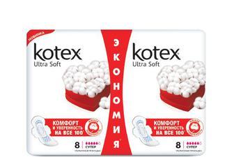 Прокладки гігієнічні Kotex Duo Ultra Super, 16 шт./уп