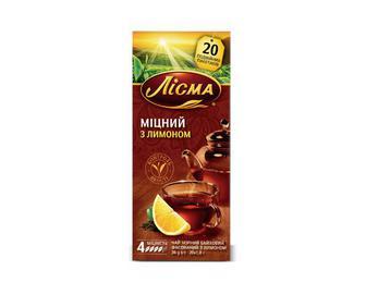 Чай чорний «Лісма» «Міцний з лимоном» 20×1,8 г/уп