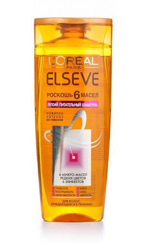 Шампунь ELSEVE HAIRCARE для всех типов волос Роскошь 6 Масел 250мл