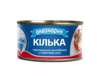 Кілька Аквамарин, у томатному соусі, 230 г