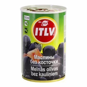 Оливки черные без косточки ключ ITLV 314мл