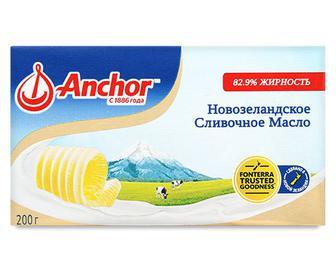 Масло солодковершкове Anchor несолоне, 82,9% 200г