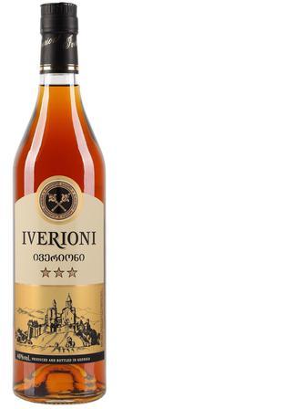 Бренді Iverioni 3* 40%, 0,5 л