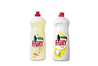 Засіб миючий для посуду Соковитий лимон/ Ніжні руки Ромашка та вітамін Е, 1 л Fairy