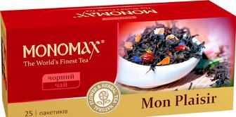 Чай черный пакетированный Мономах 25 пак