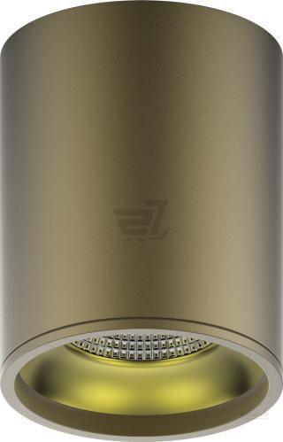 Світильник точковий Gauss накладний 12 Вт 3000 К золото/кава HD001