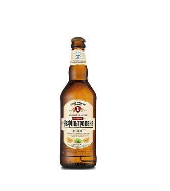 Пиво Бочкове, нефільтроване, ППБ, 0,5л