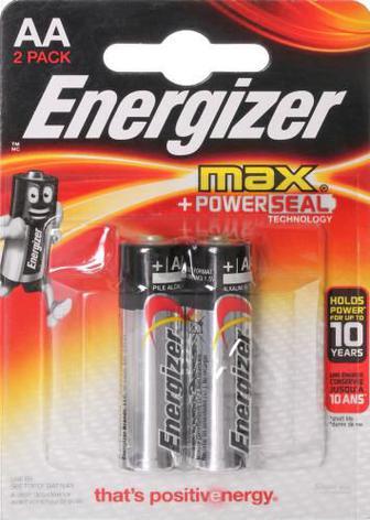 Батарейка Energizer Max E91 AA 2 шт. (E300131800)