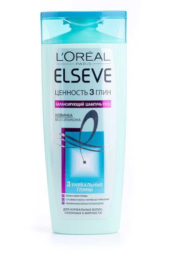 Шампунь ELSEVE HAIRCARE для нормальных волос, склонных к жирности Ценность 3 Глин