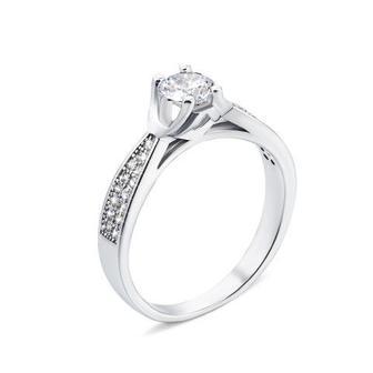 Серебряное кольцо с фианитами (1RI56865-R/12/1)