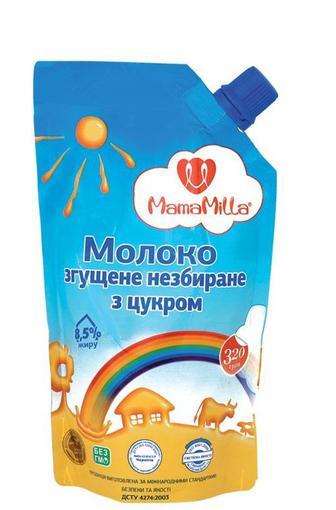 Молоко згущене MamaMilla незбиране з цукор 8,5% 320г
