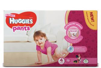 Підгузки-трусики Huggies для дівчаток 4 (9–14 кг) 72 шт.