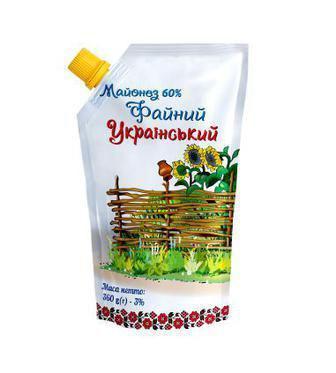 Майонез Чугуєв-продукт Файний Український 60% 360г