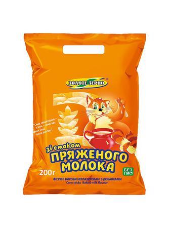 Кукурузні палички зі смаком пряженого молока Золоте зерно 200 г