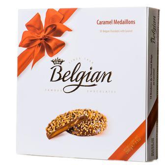 Скидка 20% ▷ Конфеты шоколадные с карамельной начинкой Belgian Medallions