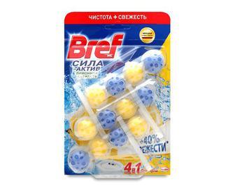 Блок туалетний Bref «Сила-Актив» «Лимонна свіжість» 3*50г