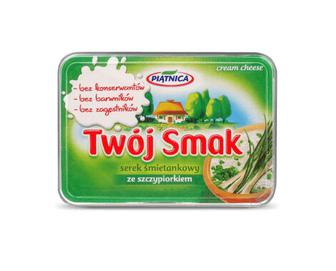 Сир Piatnica Twoj Smak вершковий з зеленою цибулею 64% жиру, 135г