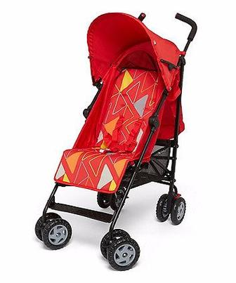 Коляска для прогулянок Nanu червоного кольору від Mothercare