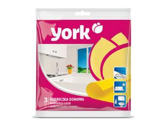 Серветка для прибирання оселі York, 3 шт./уп
